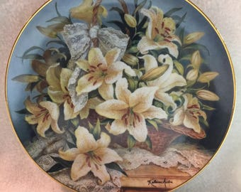 Franklin Mint Princess Grace Foundation Collector Plate - 'Princess Gracia Lily' (#205)