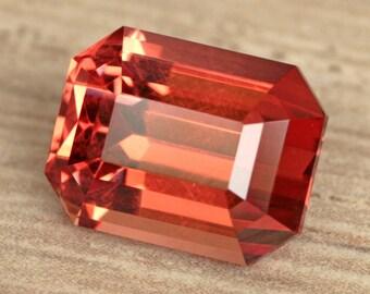 3.22 Carat Tanzanian Malaya Garnet Gemstone Precision Cut Gem
