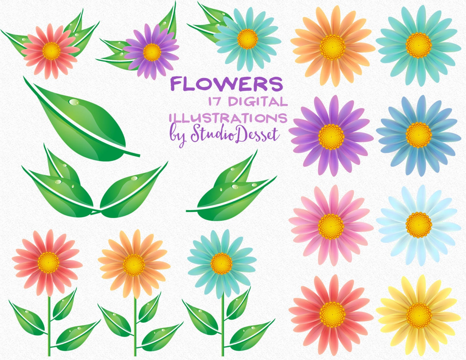 Flower cliparts daisy flower floral clip art daisy clipart this is a digital file izmirmasajfo Gallery