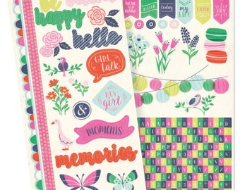"""Flower Girl Cardstock Stickers 6""""X12"""" 2/Sheets (662881)"""