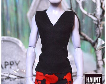 "Monster Doll Haunt Couture Boy's ""Black V-Neck"" manster high fashion fierce 