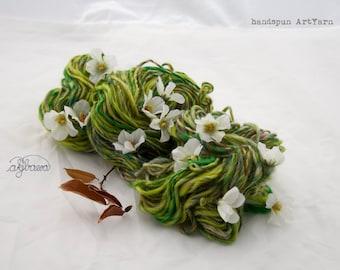 Appleflowers handspun artYarn