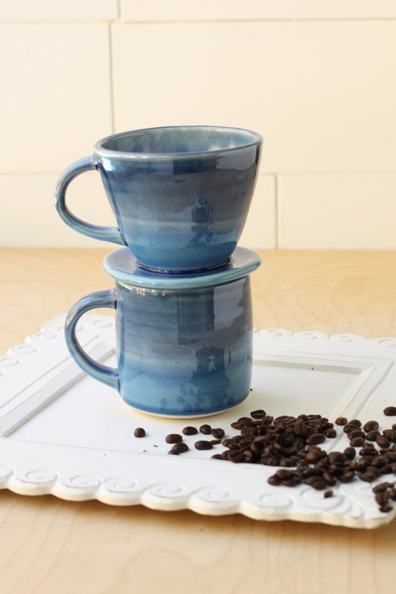 blue Drip coffee maker // pour over coffee // drip coffee pot