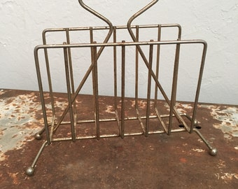 Brass Mail or Napkin Holder Caddy