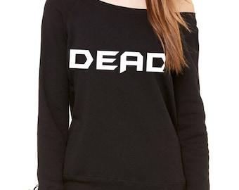 Dead Slouchy Off Shoulder Oversized Sweatshirt