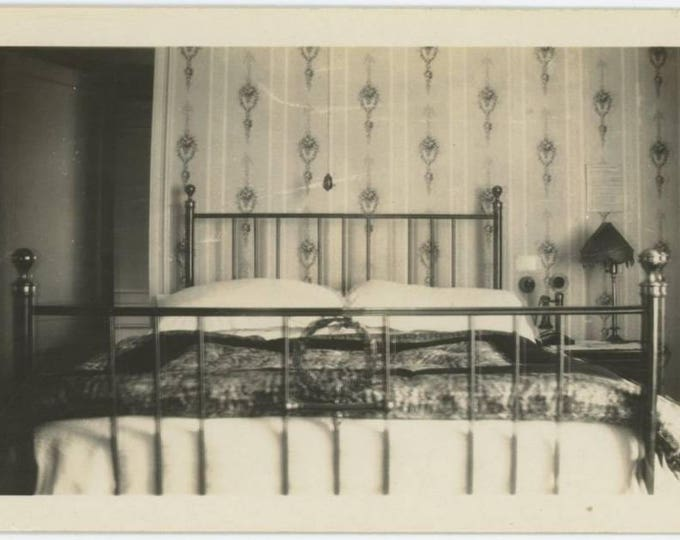 Waldorf Hotel, London, c1930s-40s: Room Interior, Vintage Snapshot Photo (77595)