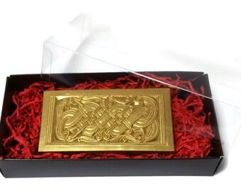 Belgian Milk Chocolate Valsgärde 5 Helmet plaque replica, vendel, gift, sweets, chocolate mold