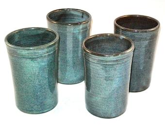 Twilight Glaze Tumbler  --  Large Handmade Stoneware pottery tumbler cups