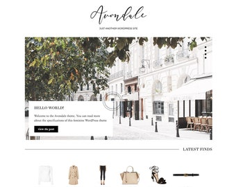 Responsive Wordpress Theme — Avondale —  Premium Wordpress Blog Theme — Feminine Fashion Beauty Lifestyle Wordpress Theme