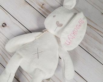Personalized Bunny , Personalized Baby Gift, Birth Gift, Baby Shower Gift, New Parent Gift, Welcome Home Baby Gift, Embroidered Bunny