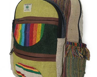 Handmade Hemp & cotton Backpack Type- 3