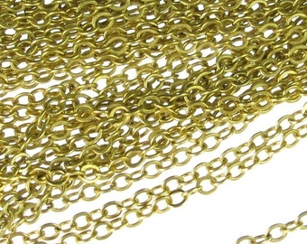 5 Ft Antique Gold Plated Steel Necklace Chain Jewelry Finding Ch02