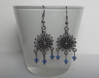 Swarovski blue stud earrings.