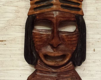 North/South American Indian Warrior Mask