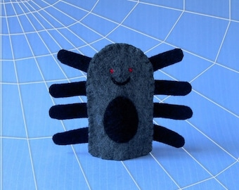 Spider Finger Puppet - Felt Spider Puppet - Arachnid - Bug Puppet - Felt Finger Puppet Spider