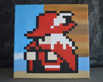 Red Mage from Final Fantasy Painting