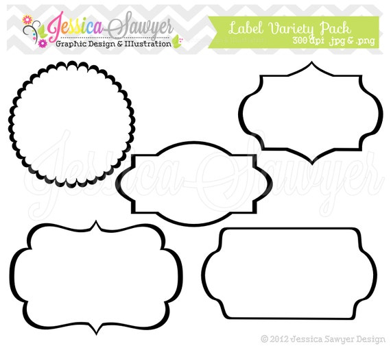 printable bracket frame. INSTANT DOWNLOAD, Label Variety Pack - Digital Frames Printable Tags Graphic Image Clip Art Clipart Commercial Use From JessicaSawyerlol On Etsy Bracket Frame A