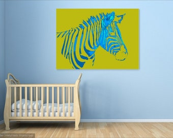 Abstract Yellow and Blue Digital Print