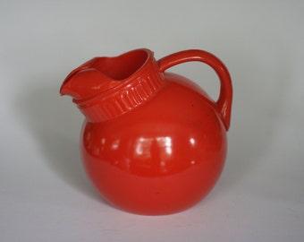 vintage orange ball glass pitcher