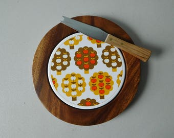 Vintage wood cheese board 1970s cheese board Scandinavian style cheese board
