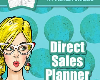 Direct Sales Planner | Direct Sales Planning, Planner for Direct Sales, MLM, Network Marketing, Direct Sales Marketing and Business Planner