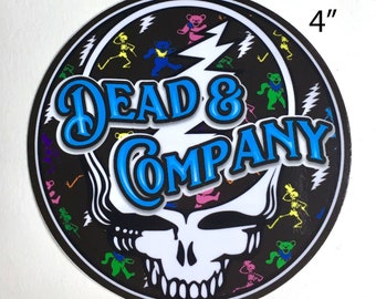 "Dead and Company SYF Round Vinyl Sticker 4""x4"""