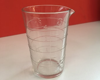 Clear Glass Measure, American Vintage 1940's