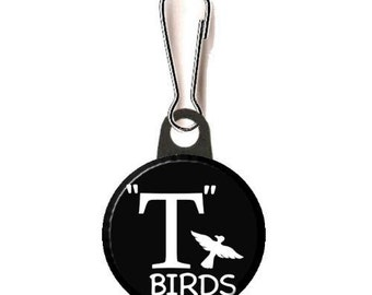 "Grease T-Birds Image  1""  or 1.25"" Zipper Pull"
