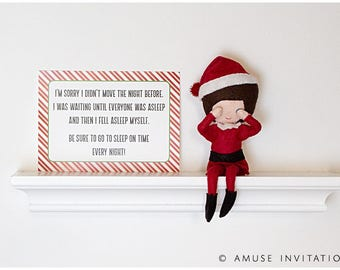Elf Forgot to Move, Reason Elf Didn't Move, Christmas Elf Accessories, Santa's Elf Prop, Elf Printable, Christmas Elf Ideas, Easy Elf Ideas