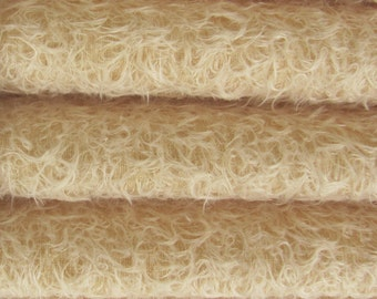 Quality 325S/CM - Mohair-1/4 yard (Fat) in Intercal's Color 573S-Buttercup. A German Mohair Fur Fabric for Teddy Bear Making, Arts & Crafts