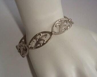 Modernist Style Sterling Link Bracelet