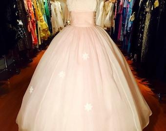 1960's Silk Organza Gown