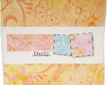 Bali Batik Whispers 5X5 Pack 42 5-inch Squares Charm Pack Benartex