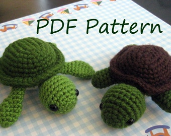 Turt the Turtle Amigurumi Crochet Pattern PDF