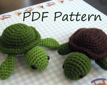 Turt the Turtle Amigurumi Crochet Pattern PDF