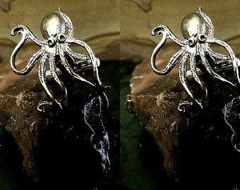 Octopus Cufflinks in solid sterling silver Free Domestic Shipping