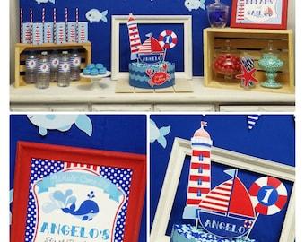 Nautical Party Printable | Nautical Birthday | Nautical Party Decorations | Nautical Birthday Printable | 1st Birthday Epic Parties by REVO