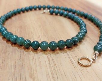 Green Jade Necklace, Nephrite Jade Necklace, Dark Green Jade, Dark Green Nephrite, Jade Jewelry, Metaphysical Jewelry, Valentine Day Gift