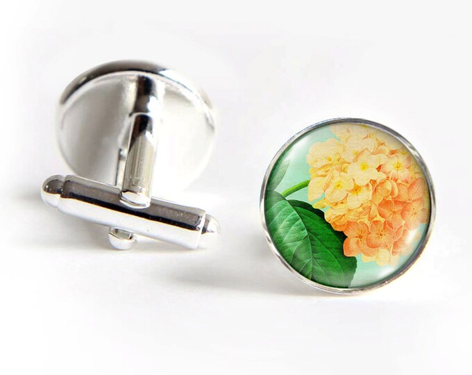HYDRANGEA Cufflinks silver 18mm cuff links