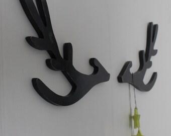 trophy deer head stylized wooden modern decor