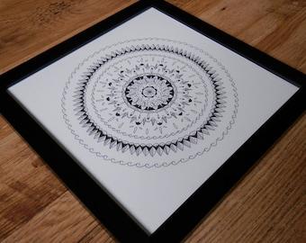 Mandala - Framed Original Illustration