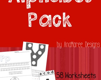 Homeschool Printable: Alphabet Pack! 58 worksheets and 26 clip cards!