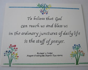 Stuff of Prayer Greeting Card - One Folded Card with Envelope