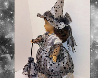 Halloween Midnight Witch Costume - Fits American Girl Dolls