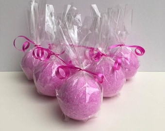 Pink Princess Foaming Bath Bomb, Avocado Oil, Perfume Scent Inspired Fizzing Bath Bombs For Girls.