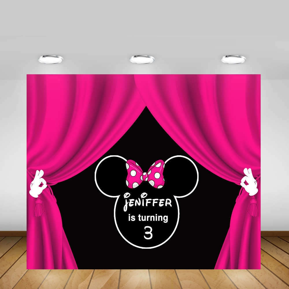 Printable minnie mouse backdrop pink minnie mouse party zoom amipublicfo Choice Image