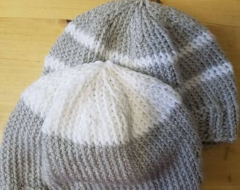 Baby Twin Knit Hats (Set of 2)