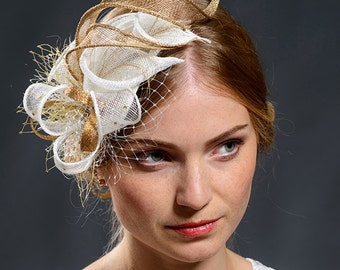 Beautiful floral fascinator headpiece for brides, church, christenings, special events