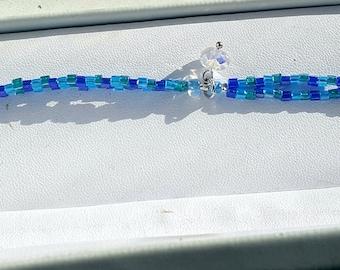 Crystal in the Sea Bracelet