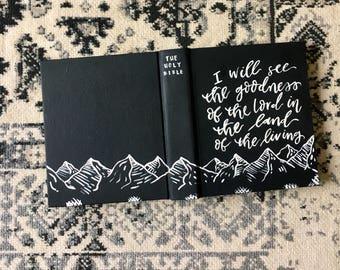 Minimal black & white ESV Journaling Bible